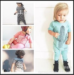 Wholesale Mix Color Tutu - 8pcs lot girls Jumpsuit kids clothes children clothing cactus long sleeve boys Romper mix color hight quality free shipping