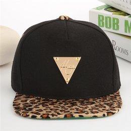 Wholesale Leopard Trukfit Hat - Free Shipping New Men Trukfit Leopard Brim Canopy Baseball Dance Casual Snapback Hats Hip Hop Casual Bboy Boy's Adjustable Cap