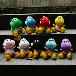 Wholesale Yoshi Color Plush - Super Mario Bros Yoshi Loong 7.2 inch Plush Doll toy 9 Color children 18CM Cartoon Super Mario Yoshi Loong Plush toys B001