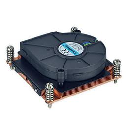 Wholesale Wholesale Copper Sinks - LGA 1355 1356 Small MOQ stock standard skived alloy copper 6063 heat sink heatsink with 60mm fan