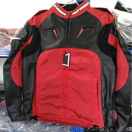 Wholesale Men White Leather Motorcycle Jacket - The new al-010 Oxford leather jacket camel riding suit motorcycle suit motorcycle suit