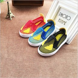 Wholesale Applique Suppliers - China supplier 2017 new summer fashion loafers casual flats kids shoes for boys girl unisex mesh breathable 21-30 free shipping