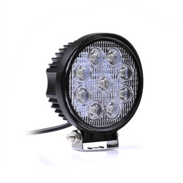 Wholesale Offroad Motorcycle Headlight - 4 Inch 27W High Power 12V 24V LED Work Light Round LED Offroad Light Lamp Worklight for Off road Motorcycle Car Truck order<$18no track