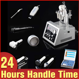 Wholesale Diamond High Frequency - 7-1 Diamond Dermabrasion BIO Face Lifting Scrubber Whitening Photon Ultrasound Cold Hot Hammer High Frequency Skin Care Anti-aging Machine