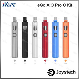 Wholesale Ego Pro Kit - 100% Original Joyetech eGo AIO Pro C Kit All-in-one Style With 4ml Top Filling Top Airflow Control Atomizer Anti-Leaking With Child Lock