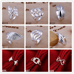 Wholesale American Grade - Brand new high grade sterling silver ring 10 pieces mixed style,fashion 925 silver ring GTR4 factory direct sale
