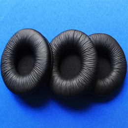 Wholesale Pad Ear - 100 pack 55mm leatherette ear pad earpads headset replacement ear cushions duarable earbud sponge cover 5.5cm