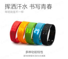 Wholesale Sport Watch Thermometer - W2 Smart Wristband Wrist Watch Bangle Waterproof Sports Bracelet Pedometer Sleep Tracker Thermometer Fitbit Flex Fitness Tracker Fuelband