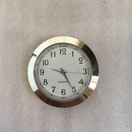 Wholesale Metal Clock Dials - 37mm silver insert clock most popular used standand size arabic mini 37mm silver metal insert clock roman dial fit up cloc