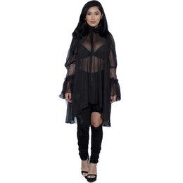 Wholesale long sheer kimono - very satisfied Sexy Sheer Women Blouse Long Ruffles Sleeve Blusas Shirts Women Kimono Women's Shirt Blouses Plus Size Tops Summer Wear For L