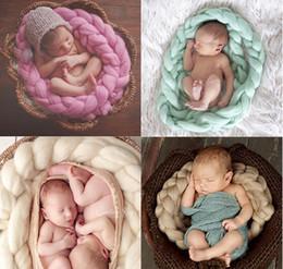 Nueva manta de fibra de lana 400 cm Cesta de relleno Relleno de la cesta Recién nacido Fotografía de fondo Atrezzo Baby Shower Regalo desde fabricantes