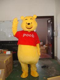 Wholesale Pooh Mascot Costumes - Mascot Costume Winnie The Pooh Cartoon Clothing Adult Size Bear