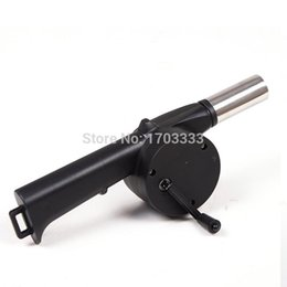 Wholesale Hand Crank Blowers - Barbecue Fan BBQ Air Blower Hand Crank 20pcs lot Wholesale Free shipping 160318#
