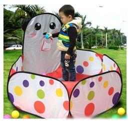 Wholesale Baby Play Tents - 2016 Hot Sale Kids Safe Polka Dot Hexagon Playpen Indoor Ball Pool Play Tent Safety Mesh Baby Playpen Baby Play