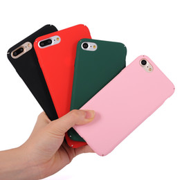Wholesale Rubberized Hard Case - For iPhone 7 6 6S Plus Frosted PC Matte Ultra-Thin Rubberized Hard Shell Back Cover Case Snap on 360 protector for iPhone6 iphone7