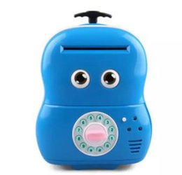 Wholesale Plastic Toy Banks - Electronic Suitcase Money Bank Piggy Money Locker Coins Cashes Auto Insert Bills Safe Suitcase Money Saver Creative Gift For Kids
