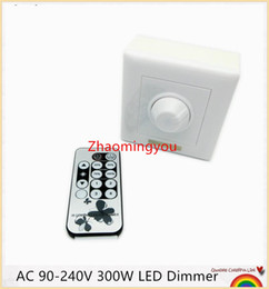 Wholesale Led Dimmer Remote Manual - Free shipping 1PCS AC 90-240V 300W LED Dimmer IR Knob Remote control switch for dimmable LED bulb or LED strip lights