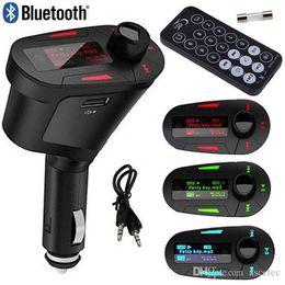 Bluetooth автомобильный Mp3-плеер Audio Kit музыкальный плеер беспроводной FM-передатчик Радио модулятор + пульт дистанционного управления USB SD MMC зарядное устройство для iPhone 7 supplier remote control audio от Поставщики аудио с дистанционным управлением