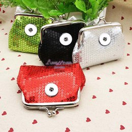 Wholesale Bling Key Rings - Bling Bling Mini 017 PU Leather 18mm Snap Button Kids Women Bag Charms Multifunction Keyring Key Rings Purse Key Chains jewelry