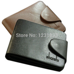 Doux Faux cuir Holder Mens Business Portefeuilles bourse Pocket Card ID noir / brun à partir de fabricateur