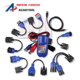 Wholesale Diagnostic Code Nexiq - 2016 NEXIQ NO Bluetooth Version Nexiq 125032 USB Link with All Adapters nexiq truck diagnostic tool ,nexiq 125032 usb link dhl free
