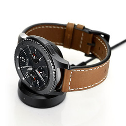 Wholesale Mini Box Watches - Smart Watch Wireless Charger Dock for Samsung Gear S3 classic S3 frontier Portable Mini Charging Base USB Cable Whit Retail Box