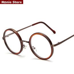 Canada Gros-NOUVEAU vintage rétro lunettes rondes en métal cadre femmes noir rond lunettes montures pour hommes clair blanc rose UV marcos de gafas cheap wholesale pink eyeglasses Offre