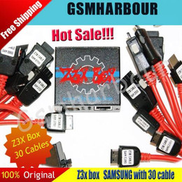 Wholesale Cell Phone Shipping Boxes - 100% Original Z3X Box Edition Unlock & Flash & Repair For Samsung Cell phones With 30 Cables +DHL Free Shipping ALL 5+ Feedback
