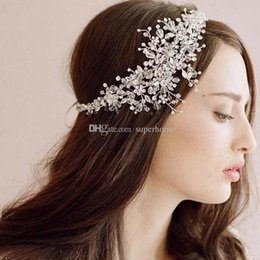 Wholesale Tiaras Bridal Korea - Bridal Hair Accessories Korea Shining Wedding Bridal Headpiece Weeding Tiara Crown Lady Headband Crown Wedding Hair Clips