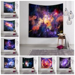 Wholesale Wall Hanging Carpet - Starry Sky Tapestry 150*130cm Polyester Printed Mandala Indian Wall Hanging Decor Bohemian Bedspread Throw Wall Carpet OOA2574