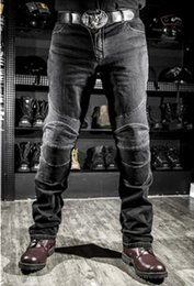 Wholesale Pants Gore Tex Xxl - Anti Shrink Windproof Riding Jeans Casual Anti Foul Rip Stop Removeable Zipper Fly Male Racing Pants