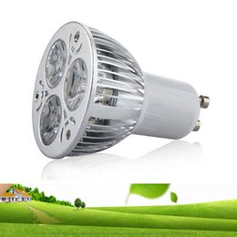 Wholesale Cree 1w Led Light Bulb - lowest CREE 3*1W 3W replace 9W Led Spot Bulbs Light E27 E14 MR16 GU10 Led non-Dimmable Lights Lamp Warm Natrual Cold White AC110-240V