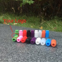 Wholesale Silica Tips - Colorful Individual Disposable Silica Gel Drip Tip Silicone 510 Mouthpiece Drip Tip Test Drip Tips for 510 RBA RDA Atomizer