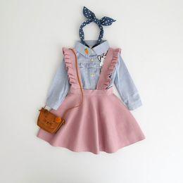 Tute da bambino a maglia online-Neonate Maglioni Bambini Tuta Vestito cinghia del bambino Abito includere solo Dress 3-8Y E097