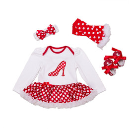 Wholesale Girl Romper 4pcs - 4Pcs Baby Girls Kids Frozen Disney Cartoon Clothes Romper Outfit Playsuits dress Long Sleeve 0-24M Free Shipping