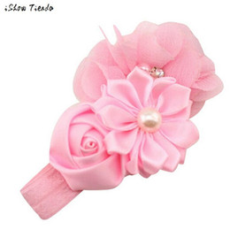 Wholesale Hair Flower Patterns - Lace Headband Kids Flower Pattern Hair Accessories For Girls Princess Hairband Accessoire Cheveux #1022