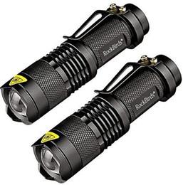 Bright mini flashlights онлайн-2018 Rockbirds светодиодный фонарик, A100 Mini Super Bright 3 режима тактический фонарь, лучшие инструменты для походов, охоты, рыбалки и кемпинга