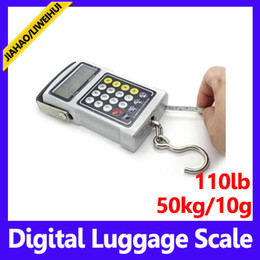 Wholesale Digital Suitcase Weigh Scale - wholesale 50kg Portable Handheld Digital Lage Scale Weighing Travel Suitcase Bag lage scale 50pcs lot free shipping