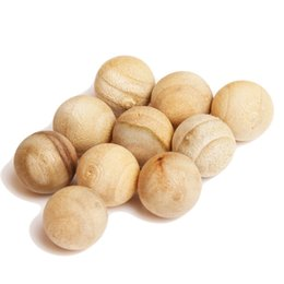 Wholesale Hg Wholesale Clothing - Wholesale-10 PCS Pack Natural Cedar Wood Moth Balls Camphor Repellent Wardrobe Clothes Drawer HG-0987