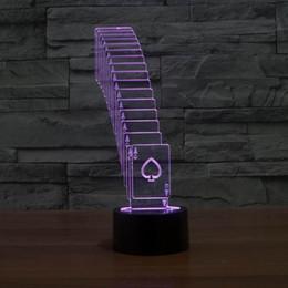 2019 mesas dobráveis frete grátis Novo Frete Grátis Especial 3D Dobrável Pôquer Tira CONDUZIDA 7 Mudança de Cor Mesa Mesa Lâmpada de Luz com linha USB