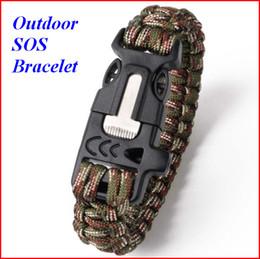 Wholesale Umbrella Rope - Multi functional umbrella rope bracelet outdoor survival emergency camping bracelet climbing riding rope Outdoor rope acc051