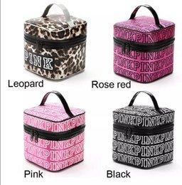 Wholesale Makeup Cosmetics Bag - VS Pink Cosmetic makeup Storage PINK Tote Bags akeup Bag Travel Cosmetic Bag Box Makeup Case Pouch Toiletry Organizer KKA2820