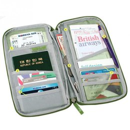 Wholesale travel documents holder wallet - Wholesale- 2016 Portable Full Closure Zipper Travel Organiser Passport Holder Wallet Full Closure Zip Document Bag Travel Passport Wallet
