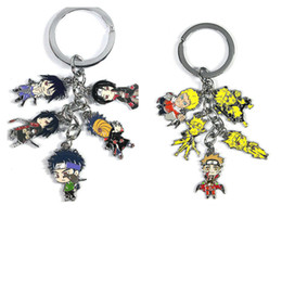 Wholesale Lobster Clasp Key Chain - Naruto Keychain Uzumaki Gumiho Fairy mode Uchiha Itachi family Metal Figure Pendants key chain Alloy Charms Lobster clasp with ring