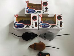 Wholesale Control Rats - Novelty Funny RC Wireless Remote Control Rat Mouse Toy 3 Colors 30pcs lot For Cat Dog Pet