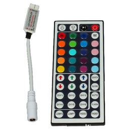 Wholesale Rgb Strip Remote Control - 44 key LED ir remote control 44keys ir mini RGB controller for LED strip 5050 RGB strips