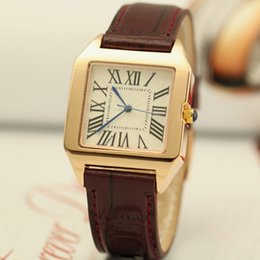 Wholesale Leather Watch Square For Men - 2016 Hot Luxury watches Brand C Casual women men watches Couple quartz watchwrist big bang Wristwatches for Men Women