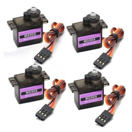 Wholesale Rc Helicopter Micro - 4x MG90S Metal Gear Micro Servo 2.5KG for RC Airplane Trex 450 Helicopter Car