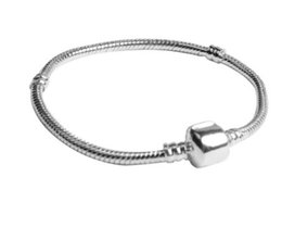 Wholesale Men Bracelet Sterling Silver Snake - Wholesale 925 Sterling Silver Charm Bracelets 3mm Snake Chain Fit Pandora Charms Bead Bangle Bracelet Fashion Jewelry DIY Gift For Men Women