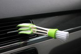 Wholesale Brush Automobile - Automobile air conditioner air outlet brush brush car gap brush cleaning brush corner brush instrument panel brush